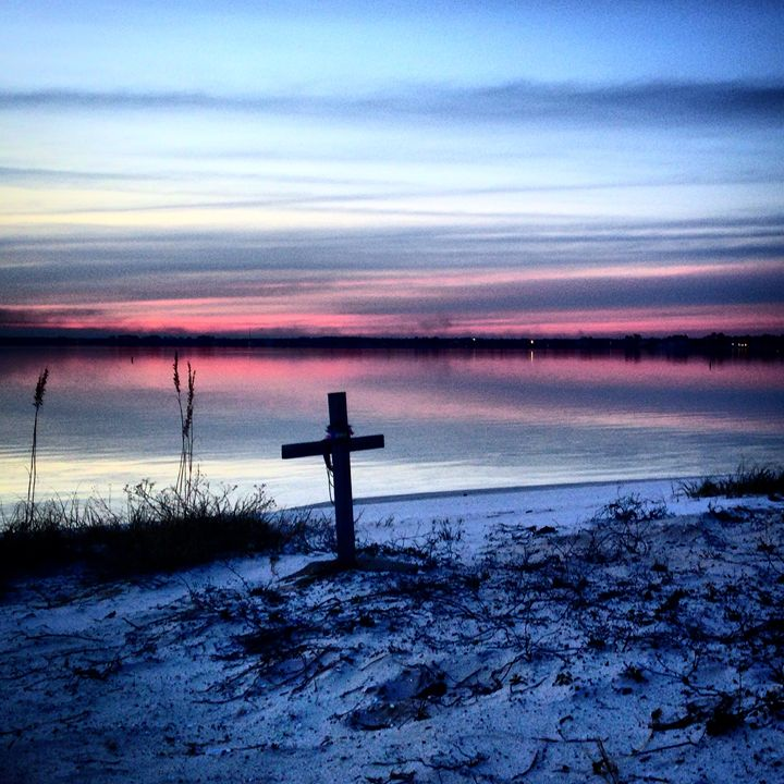 Cross with a sunset - Allison's photography