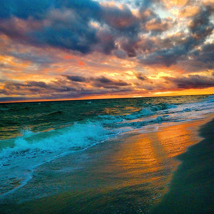 Gorgeous Sunset over the Gulf - Allison's photography