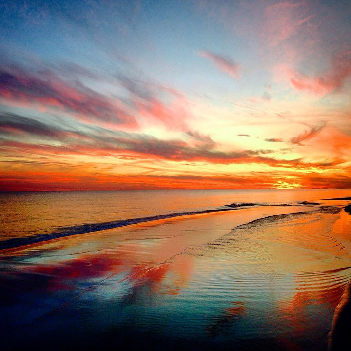 Colorful sunset over navarre beach - Allison's photography