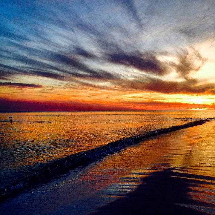 Sunset over Navarre Beach - Allison's photography
