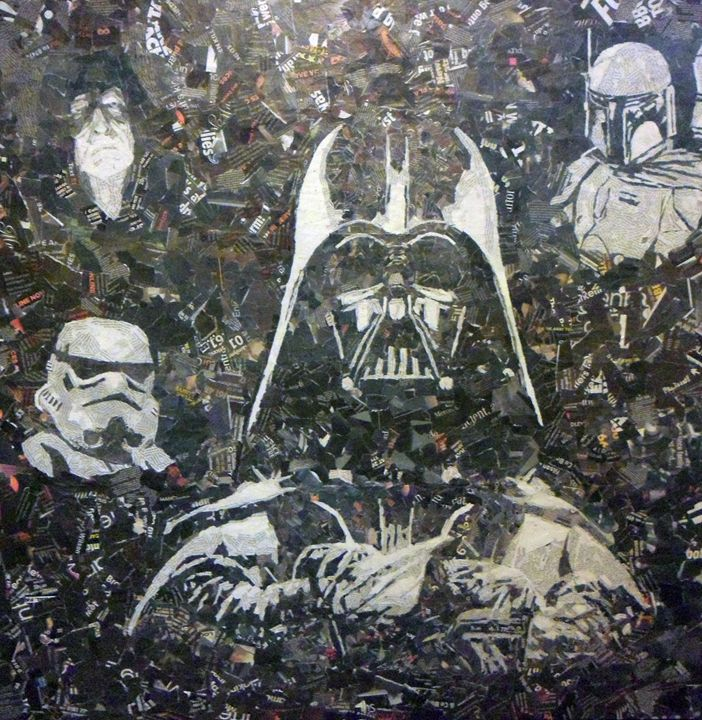 Star Wars Collage - Paper Portraits