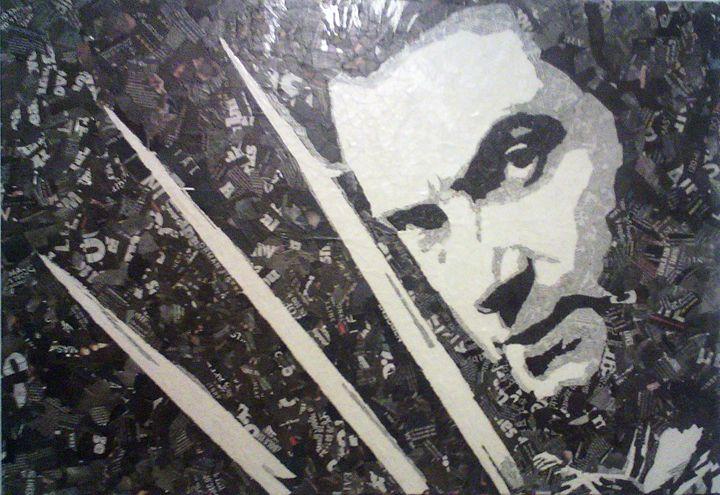 Wolverine Collage - Paper Portraits