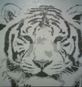 White Tiger Collage