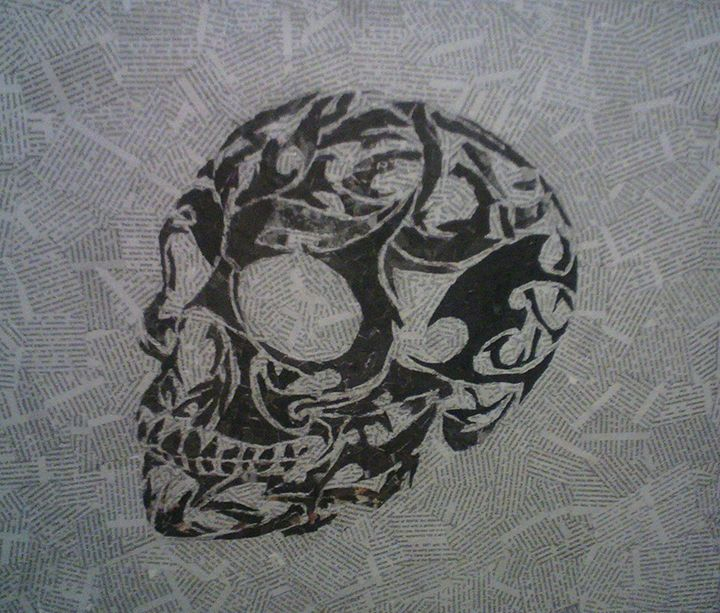 Tribal Skull - Paper Portraits