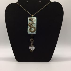 Altered Domino Steampunk Necklace