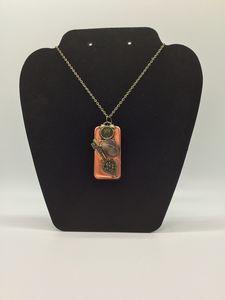 Copper Steampunk Domino Necklace