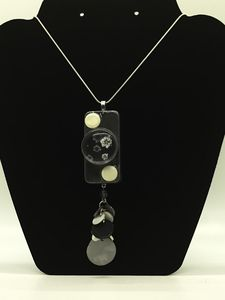 Repurposed Vintage Domino Necklace