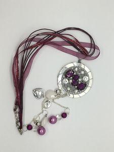 Repurposed Rhinestone necklace