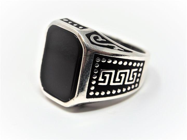 Handmade Black Onyx Ring - MW Gallery