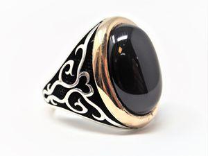 Unique Large Onyx Stone Ring
