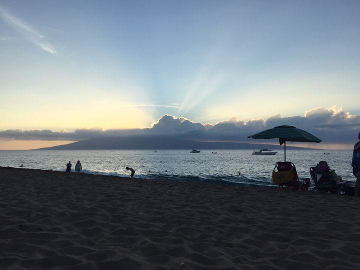 Unwinding in Maui Sunset - Susan Maletta