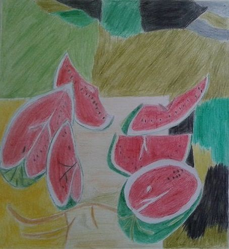 Watermelons in the countryside - Stathis Art