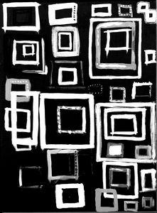 PreSchool Squares Black Modern