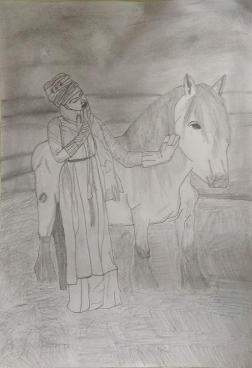 White horse - ash