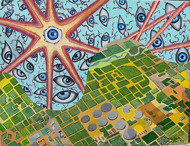 The Eyes Over America - Chamiltonart - Artist Christopher Hamilton