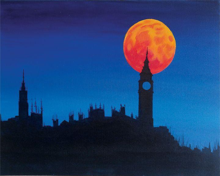 Blood Moon Over London - Chamiltonart - Artist Christopher Hamilton