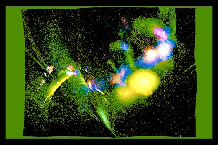 collaged & massaged 01 greenish 01 - Figments of my Pigments, my Imagination