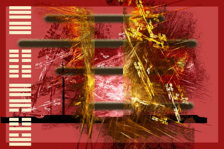 i ching (redd-ish) 01 - Figments of my Pigments, my Imagination