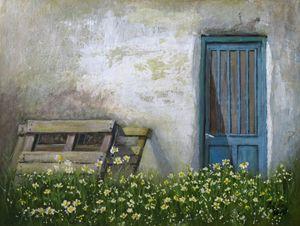 Diasy with Blue Door