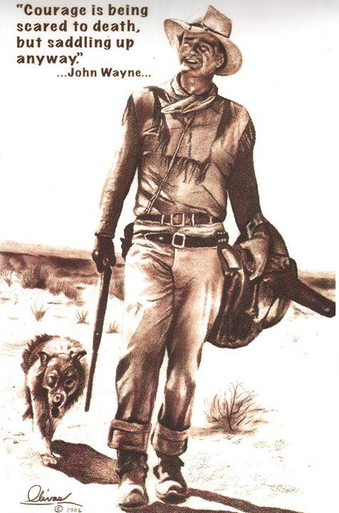 Courage, John Wayne - 'The Olivas Collection'