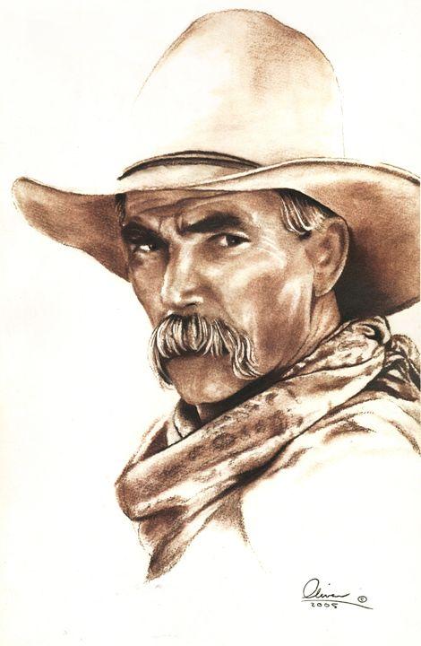 hand drawn Sam Elliott - 'The Olivas Collection'