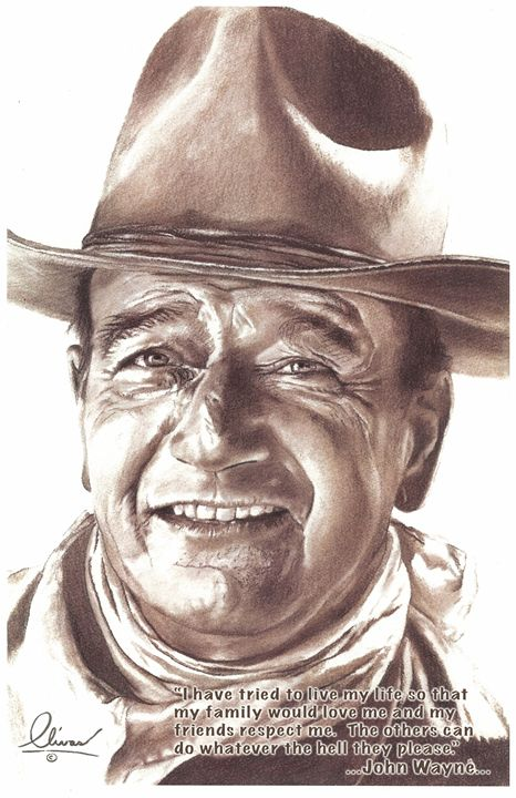 Smiling John Wayne - 'The Olivas Collection'