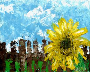 """Fenced Sunflower"""