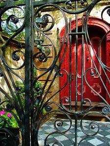 RED DOOR AND GATE