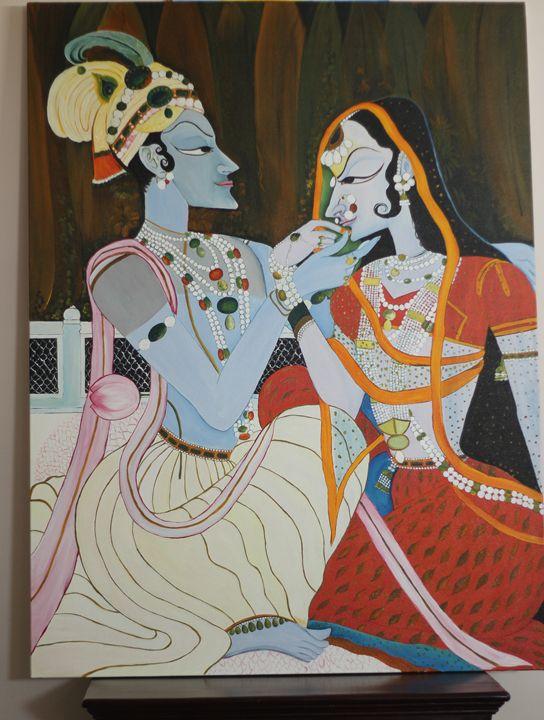 Radha Krishna - Colorskart by Artist Sapna Amit kumar