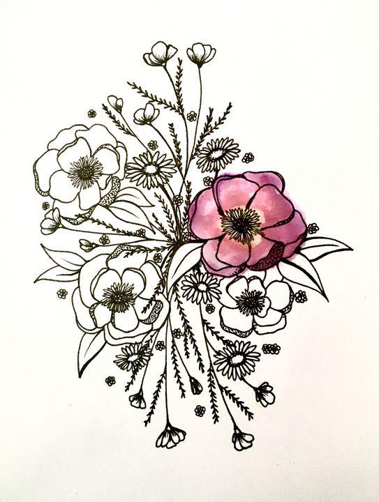flowers - contrast artwork