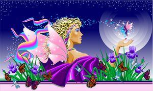 Mardi Gras Purple Iris - Darren Mitchell