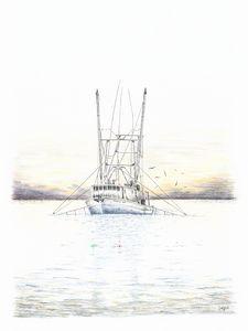 Sunset Trawler - Darren Mitchell