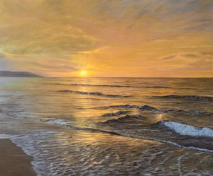 Sunset painting oil on canvas