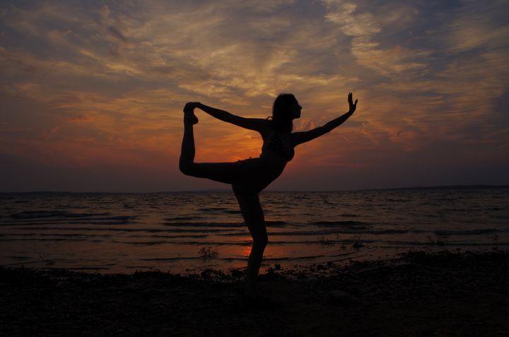 Sunset Yoga Dancer's Pose - OceanSoul18