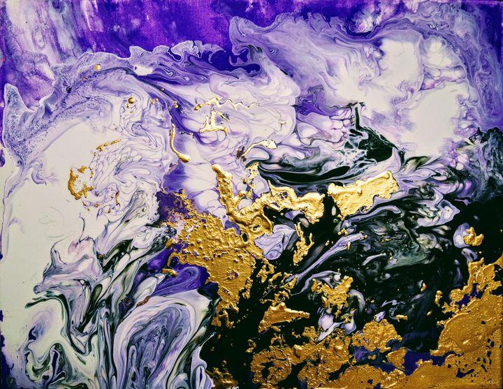 Violet Eternity - Amber Lamoreaux Art