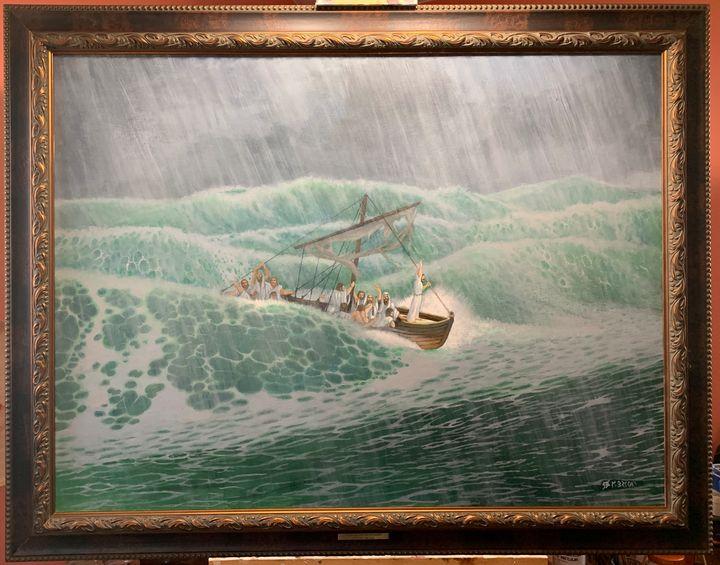 Storm On The Sea of Galilee - MatthewBrooksArt.com