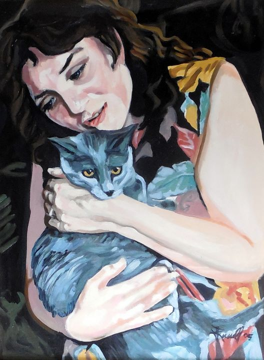 Stella and Her Cat - Jeanne Russell