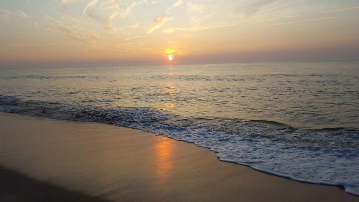 Beach At Sunrise - Megan