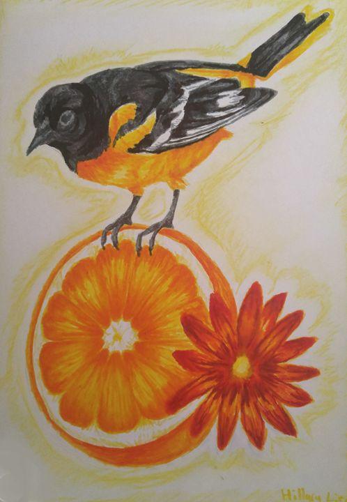 Oriole and Orange - Inklings