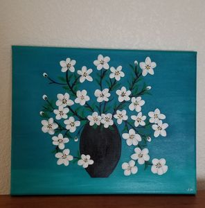 Flowers in the Blue - P V Hughes Art