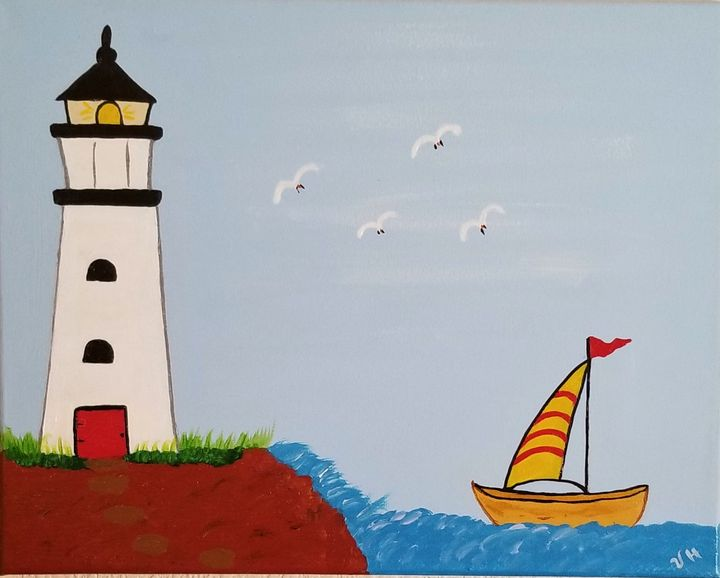 Lighthouse - P V Hughes Art