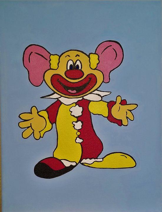 Clown - P V Hughes Art