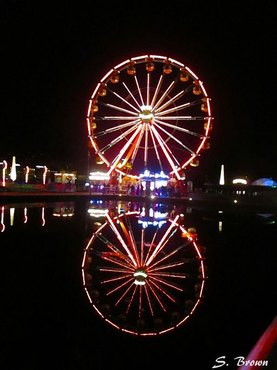 Ferris Wheel Reflection - S. Brown Photography