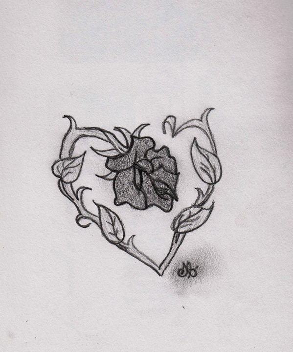 Rose Heart - S. Brown Photography