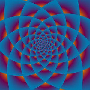 Blue Healing mandala