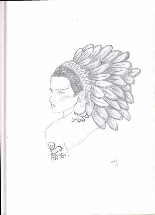 A Tribal Woman - My Book of Art