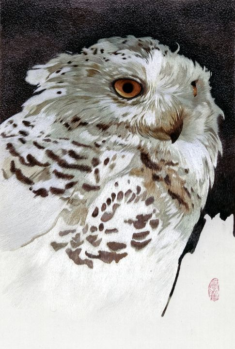 Snow Owl 2 - Mulberry Gallery