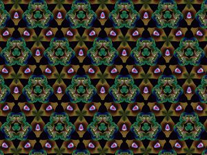 Tiling brown shapes and green shapes