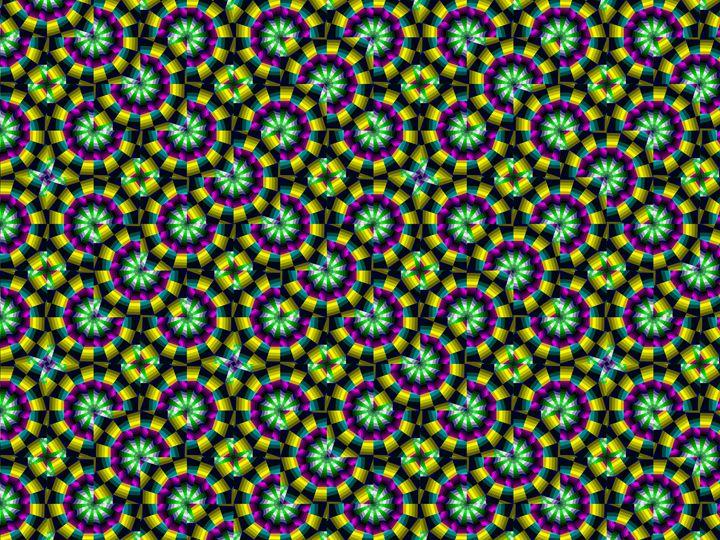 Chaotic tiling - Fractal art