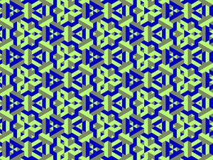 Solid colored pattern of a fractal